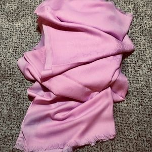 NWT/AUTH GUCCI Oversized GG Guccissima Scarf-Rose